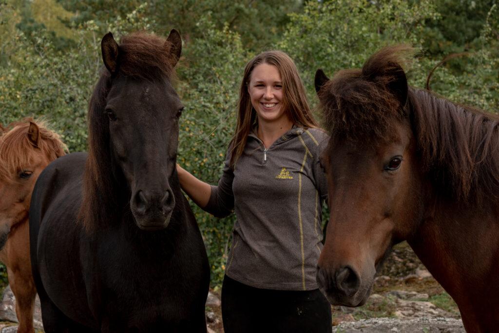 Cecilia Johansson, turridningsledare på Lillängens Islandshästar